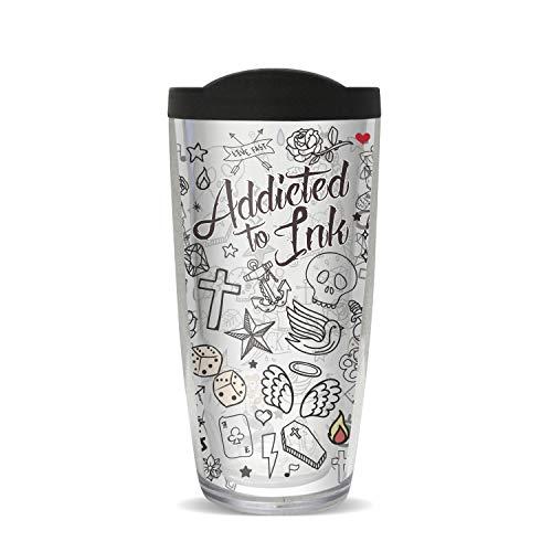 Addicted to Ink Tattoos - 16oz Black Lid (Black Tattoo Ink 16oz)