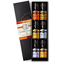 Halloween Set of 6 Premium Grade Fragrance Oils - Autumn Wreath, Pumpkin Pie, Candy Corn, Marshmallow, Night Air, Caramel Corn