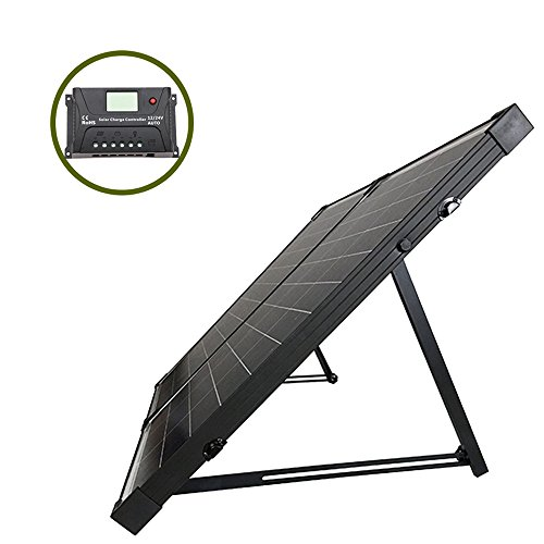 Off Grid Polycrystalline Portable Foldable Solar Panel Suitcase with Charge Controller (12vdc Integrated Solar Power Systems)