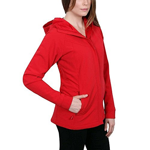 Lined Red Jacket - Kirkland Signature Ladies' Water-Repellent Wind Resistant Softshell Jacket (Medium, Red)