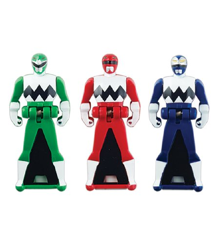 Power Rangers Super Megaforce - Lost Galaxy Legendary Ranger Key Pack, Red/Blue/Green