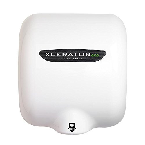 Excel Dryer XLERATOReco XL-BW-ECO Hand Dryer, No Heat, White Thermoset Resin (BMC) Cover, Automatic Sensor, Surface Mounted, LEED Credits, GreenSpec Listed, Commercial Hand Dryer, 500 Watt (Pack of 2)