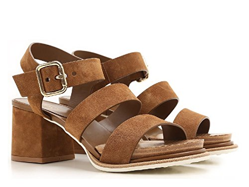 XXW19A0T610RE0S609 Kitten Brown Number Sandals Leather Leather Tod's Suede Model Heels vB8xB4wC