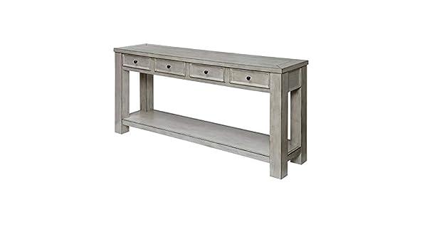 Amazon.com: Furniture of America Deston Farmhouse Wood Sofa ...