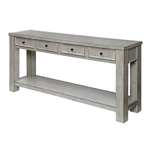 - Furniture of America Deston Farmhouse Sofa Table in Antique White