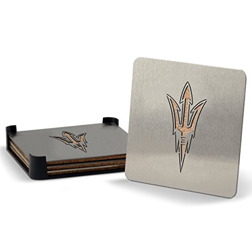 NCAA Arizona State Sun Devils Boasters, Heavy Duty Stainless Steel Coasters, Set of 4 (Arizona State Sun Devils compare prices)