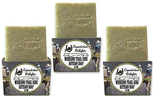 (Soap 3 Pack Weekend Trail Ride Vegan Organic Fir Needle Essential Oil Soap )