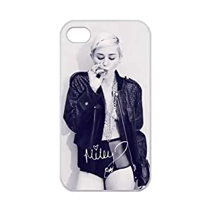 Sexy Protective Miley Cyrus Apple Iphone 4S/4 Case Cover 100% TPU Laser Technology