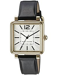 Marc Jacobs Women's Vic Black Leather Watch - MJ1437