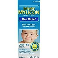 Gotas de alivio de gas Mylicon para bebés y bebés, fórmula sin colorante, 1 onza líquida