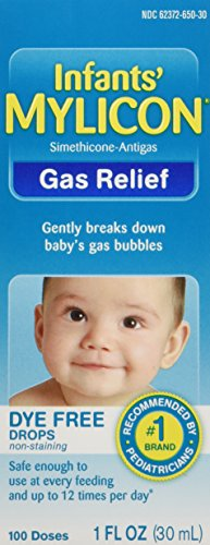 Mylicon Gas Relief Drops for Infants and Babies, Dye Free Formula, 1 Fluid Ounce