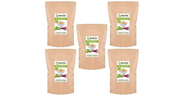 Amaranto orgánico MeaVita, paquete de 5 (5 x 1000g): Amazon ...