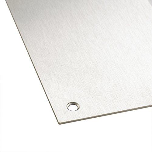 Kick Plate Aluminium Bottom Door Protector Kickplate FREE Stainless Steel Screws