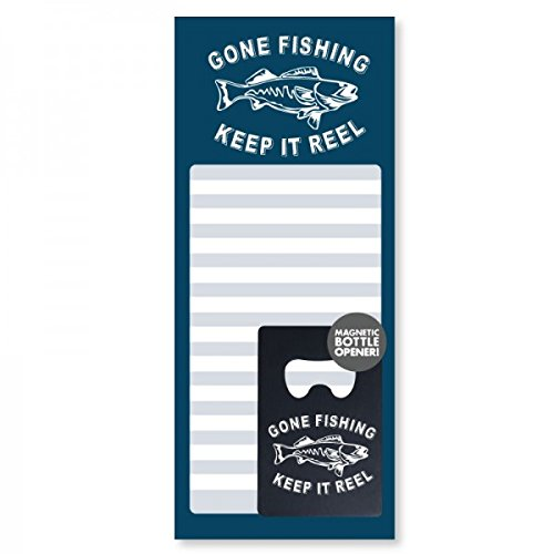 Wellspring Men's Gift Set – Magnetic Notepad and Bottle Opener – Fishing Review