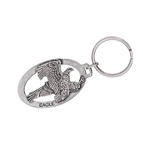 Oval Pewter Keychain - 9