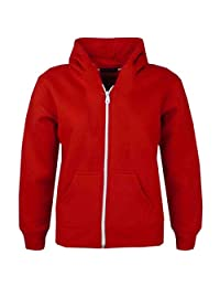 A2Z 4 Kids Kids Jacket Girls Boys Plain Fleece Hoodie Zip Up Style Zipper 5-13