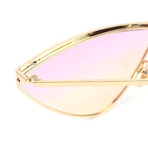Retro Metal De Frame Lentilles Triangle Eye Cat Soleil Mirror Exing 1 Lunettes Dégradé qwXftY