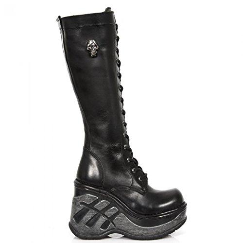 New Rock Boots M.sp9811-s1 Gotico Hardrock Punk Damen Stiefel Schwarz