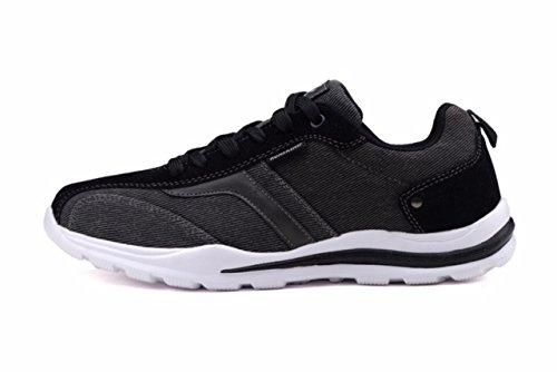 Loopt Koningen Nieuw Lichtgewicht Go Easy Walking Casual Heren Sneakers (r6125) Zwart / Wit