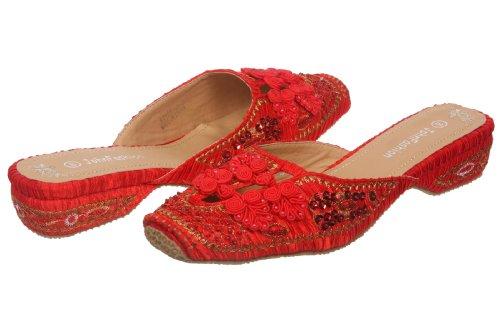 JohnFashion - Sandalias de vestir para mujer Rojo