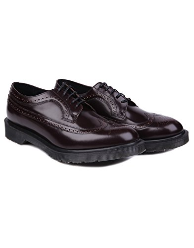 Dr. Martens 3989 Boanil Brush Mie Brogue Shoe, Merlot Boanil Brush, US Mens 9 / Womens 10 Medium - Brogue 3989 Shoe Martens