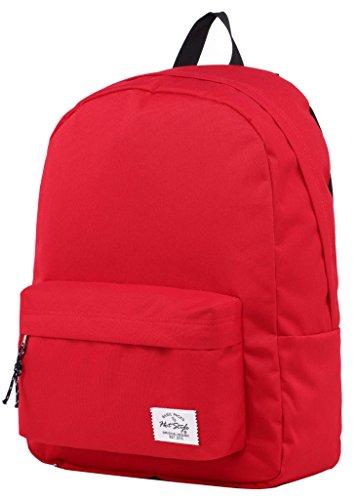 "SIMPLAY Classic School Backpack Bookbag | 17""x12.5""x5"" | Assorted Colors | Red 410eG67oNyL"