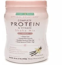 Nature's Bounty Optimal Solutions Complete Protein & Vitamin Shake Mix, Vanilla 16 oz by Nature's Bounty