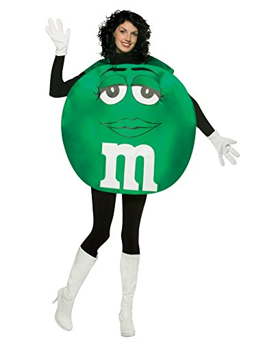 [Green M&M Theatre Costumes Easy Costumes Food Candy Couples Costume Idea Sizes: One Size] (Easy Costume Ideas For Couples)