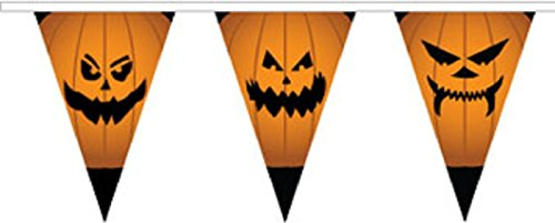 Halloween Pumpkin Superior Material String Flags / Bunting 10m (33') Long With 24 Flags