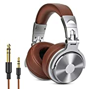 #LightningDeal OneOdio Over Ear Headphone, Wired Bass Headsets with 50mm Driver, Foldable Lightweight Headphones with Shareport and Mic for Recording Monitoring Mixing Podcast Guitar PC TV