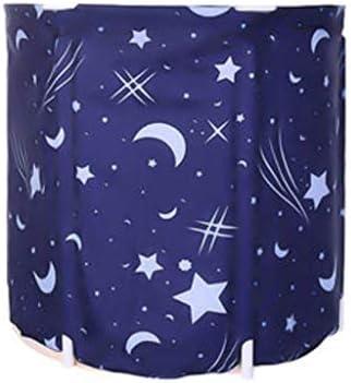 家庭用浴槽シンプルな入浴・入浴用折りたたみ式浴槽厚手の折りたたみ・蒸し用兼用折りたたみ式浴槽家庭用便利な収納浴槽 浴室用設備 (Color : Blue, Size : 65*70cm)