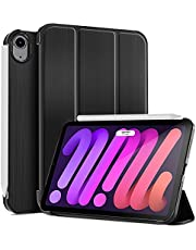 ProCase iPad Mini 6 Case 2021 8.3 Inch, Slim Trifold Stand Hard PC Back Shell Protective Smart Cover Case for 8.3 Inch iPad Mini 6th Generation 2021 –Black