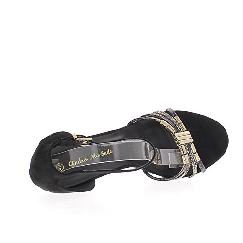 Sandali Serpente In Camoscio Grandi Dimensioni 11 Chaussmoi Neri Tallone Centimetri E gnpFEIqv