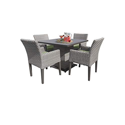 - TK Classics Florence Square Dining Table with 4 Chairs in Cilantro
