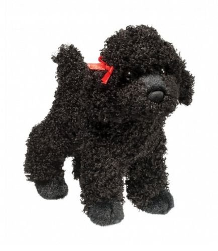 Stuffed Plush Dog Toy - Stuffed Plush Animal 8 Inch Dog Suitable For Babies and Children - Perfect Birthday Gifts - Toy Doll for Kids and Toddlers (Gigi Black Poodle Dog) (Plush Poodle Purse)
