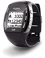 Posma GM2 GPS Golf Watch Range Finder + HR + Activity Tracking + Golf Trainer built-in heart rate monitor sensor and Bluetooth app to connect with Android Smartphone and iOS iPhone