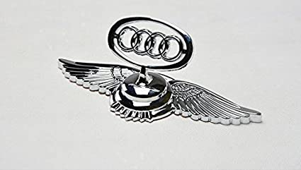 Customised Car Logo Emblem Chrome Badge Front Hood Bonnet Sticker - Audi car emblem