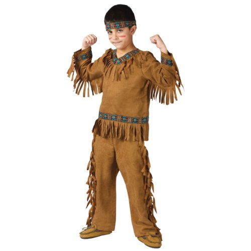 Kid Holloween Costumes (American Indian Boy Chld Large)
