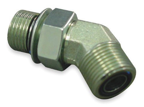 Eaton Aeroquip - FF2068T1616S - Male ORS to Male ORB 45 Degree Elbow Hydraulic Hose Adapter