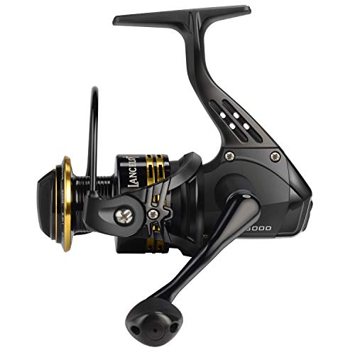 KastKing Lancelot Spinning Reel, Freshwater Fishing Reel, 5+1 Steel Ball Bearings, Up to 17.5lbs of Smooth Drag, High-Capacity Aluminum Spools, Aluminum Handle.