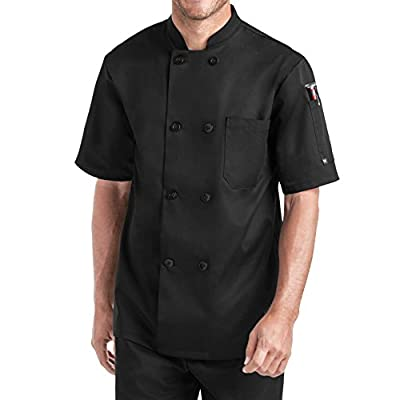 Men's Short Sleeve Chef Coat (S-2X, 2 Colors)