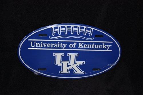 HANGTIME Kentucky Wildcats Oval Metal License Plate