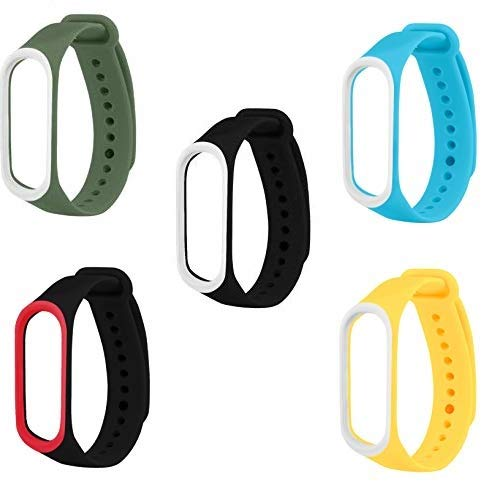 Rapidotzz Pack of 5 Straps/Belts/Bands Compatible for Xiaomi MI3 and MI4 MI Band 3 and MI Band 4 Price & Reviews