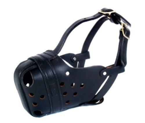 Large Leather Agitation   Police Dog Muzzle for Large Malinois or Shepherd RedLine K9