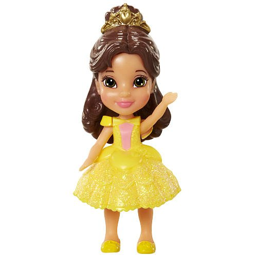 Jakks Pacific Disney Princess Belle Poseable Sparkle Collection Mini Toddler Doll ()