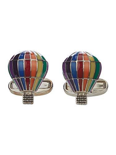 Paul Smith Mens Rainbow Stripe hot air Balloon Cufflinks ()