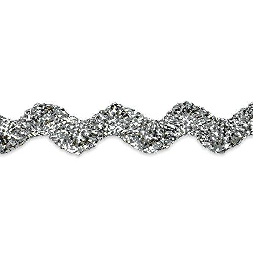 Expo International 1/2-Inch 36-Yard Ric Rac Trim Embellishment, Medium, Metallic Silver by Expo International