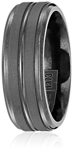 Mens-Tantalum-8mm-Matte-Finish-with-Center-Cut-and-Polished-Round-Edges-Wedding-Band