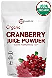 Sustainably US Grown, Pure Organic Cranberry Juice Powder, 8 Ounce, Powerfully Supports Urinary Tract Cleanse, Best Natural Flavor for Smoothie & Beverage Blend. Non-GMO and Vegan Friendly For Sale