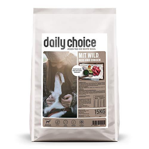 daily choice Basic – 15 kg – Trockenfutter für Hunde – mit Wild, Reis und Erbsen – Keine minderwertigen Kohlenhydrate…